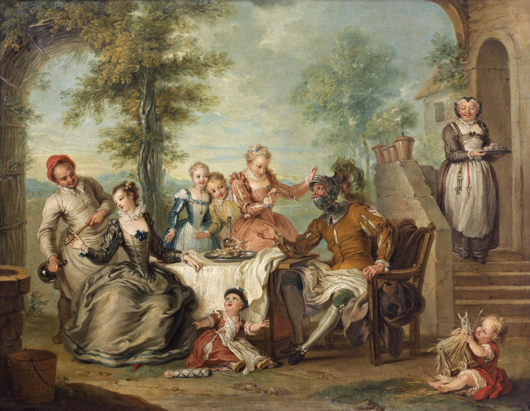 Charles-Antoine Coypel. Don Quixote at the Inn