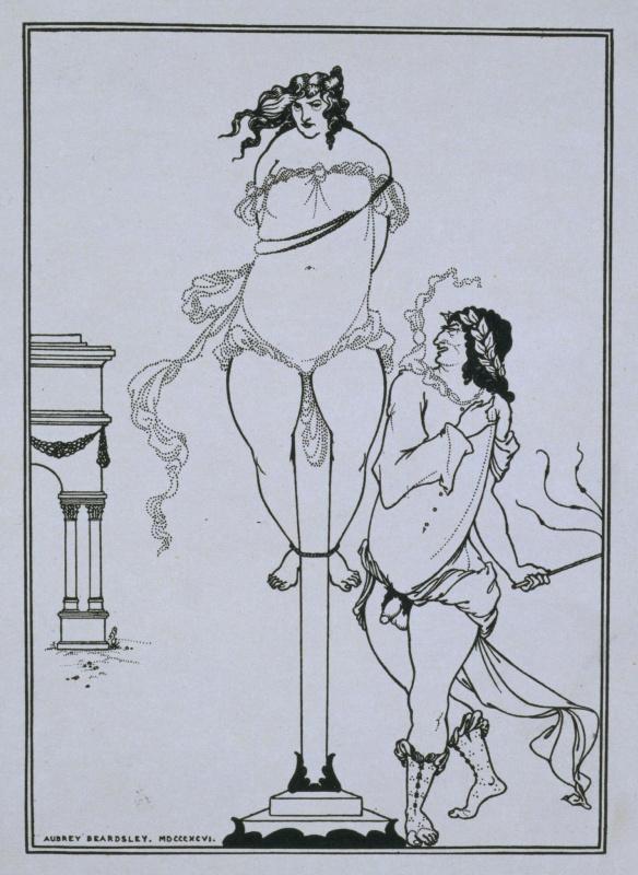 Обри Бердслей. Ювенал, бичующий женщину