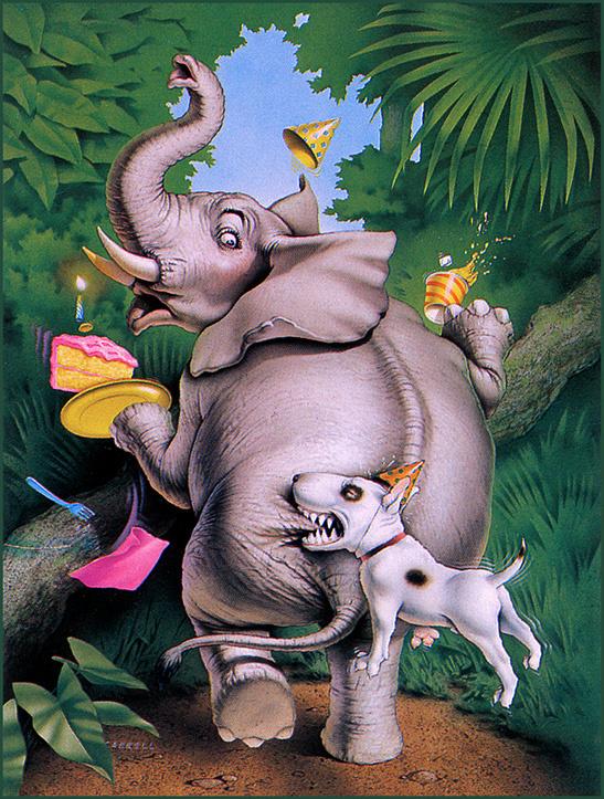 Джастин Кэрролл. Собака кусает слона