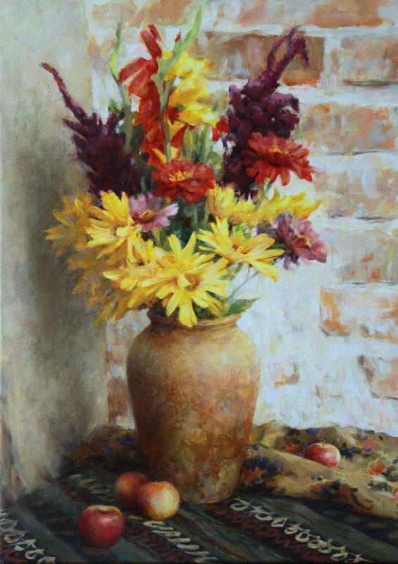 Александр Владимирович Кануков. Натюрморт с желтыми цветами
