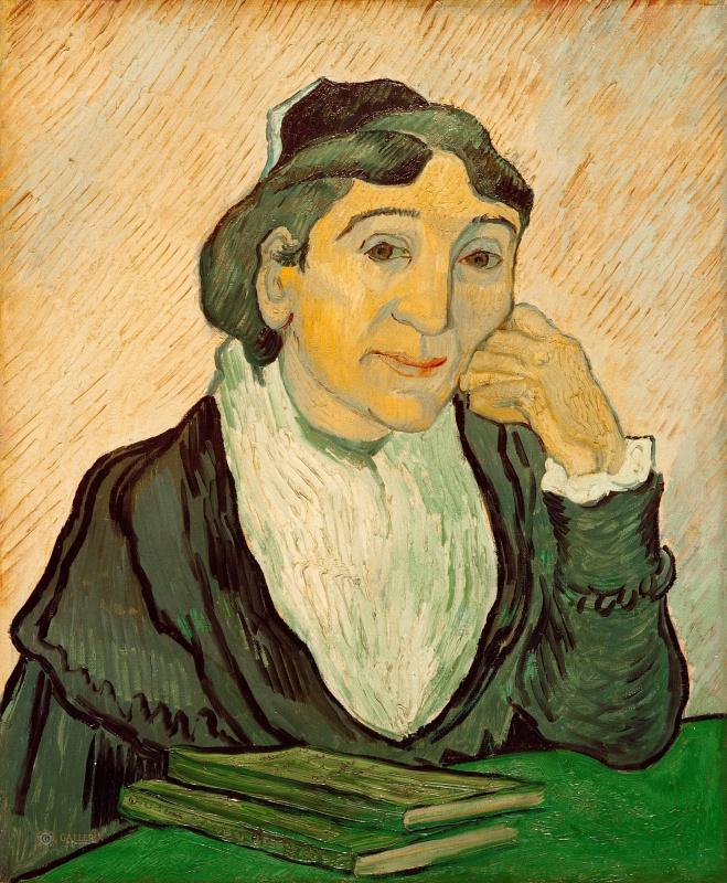 Vincent van Gogh. L'arlesienne. Portrait of Madame Geno