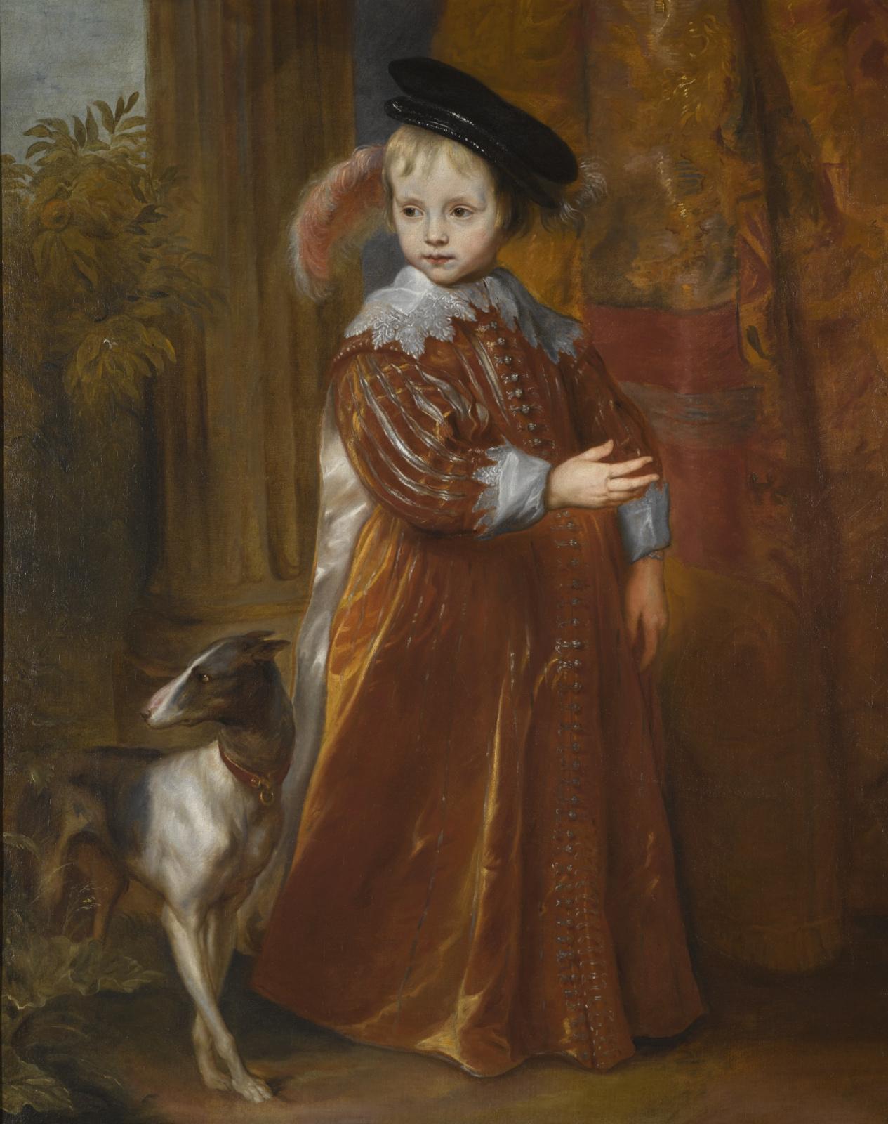 Антонис ван Дейк. Портрет принца Вильгельма II Оранского с гончей