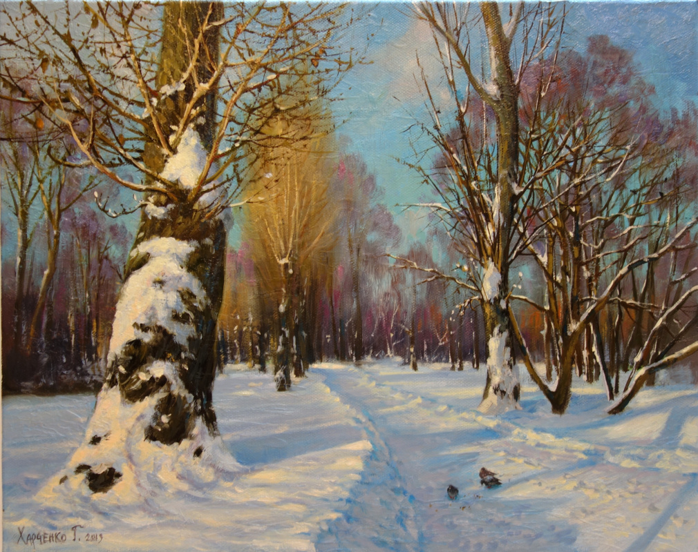 George Kharchenko. In the winter park