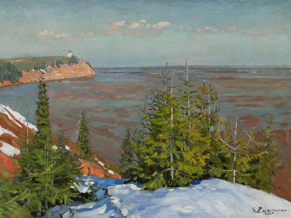 Stanislav Yulianovich Zhukovsky. Early spring near Vyatka