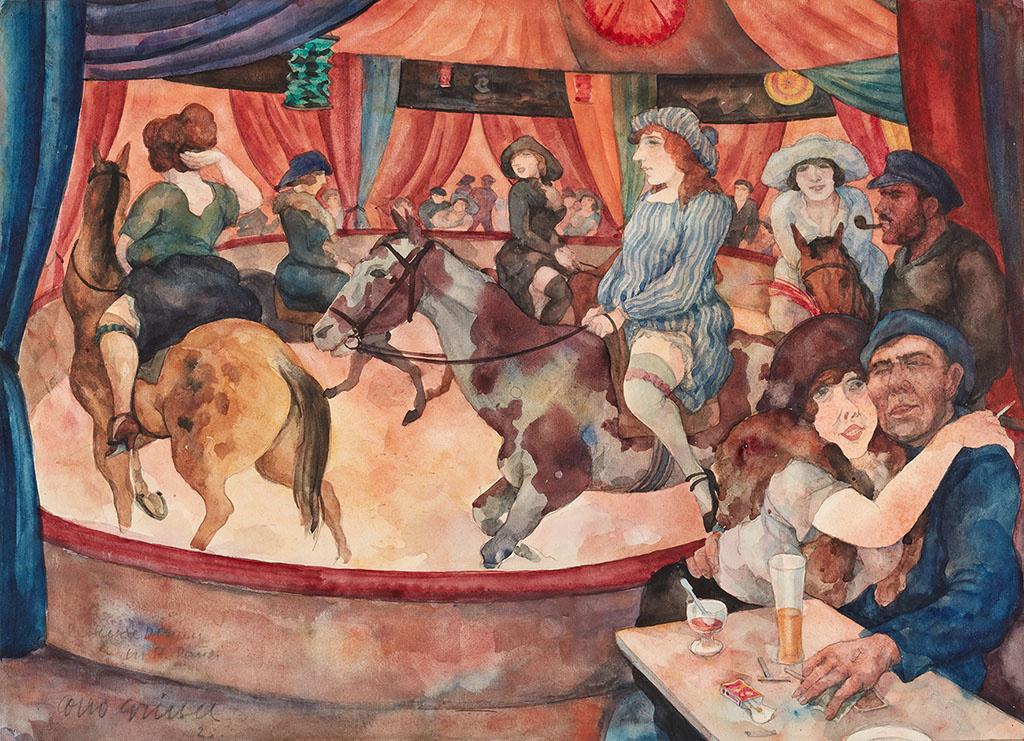 Otto Griebel. Hippodrome in St. Pauli