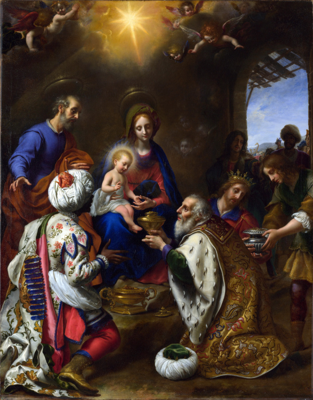 Carlo Dolci. The adoration of the Magi