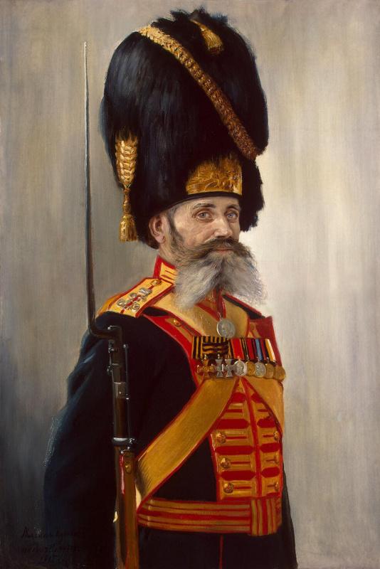 Владимир Александрович Поярков. Портрет дворцового гренадера Кулакова
