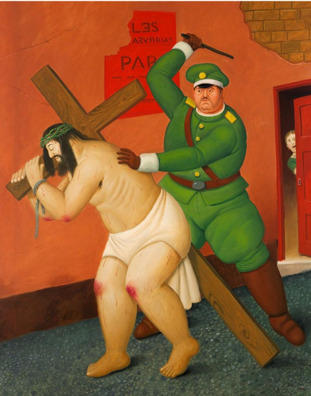 Fernando Botero. Christ carrying the cross
