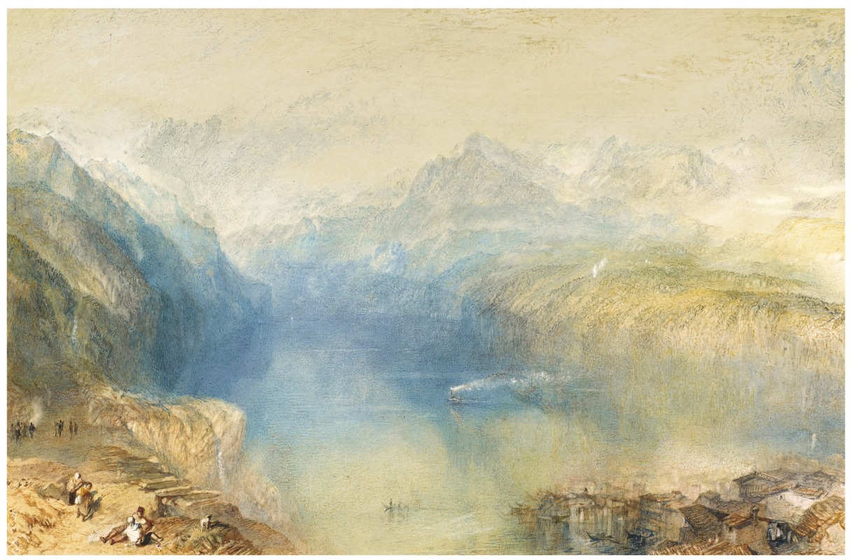 Джозеф Мэллорд Уильям Тёрнер. Вид на озеро Люцерн из Бруннена