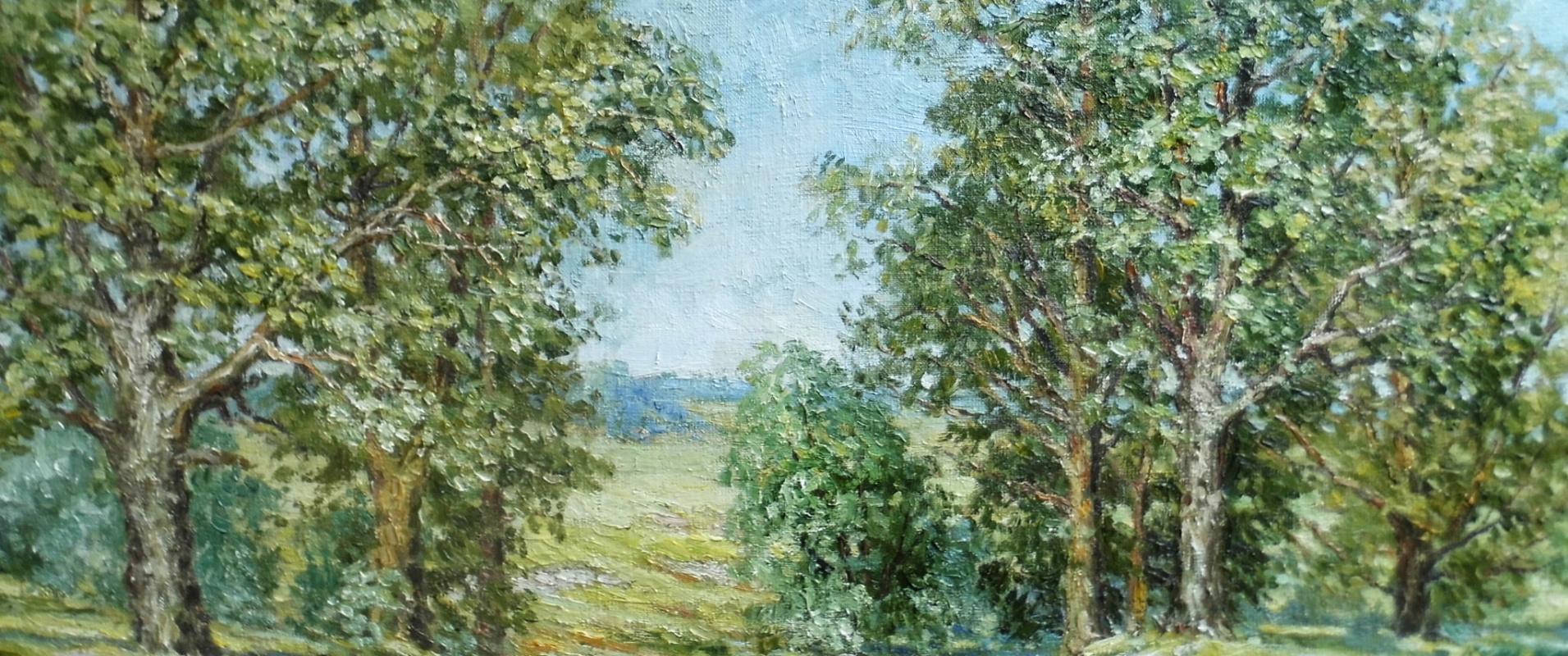 Victor Vladimirovich Kuryanov. Oaks on the edge of a ravine