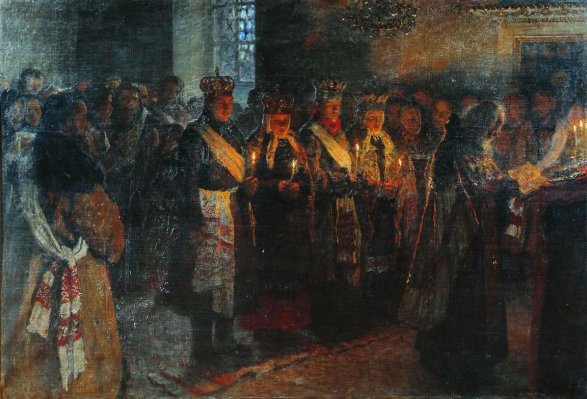 Николай Петрович Богданов-Бельский. Венчание