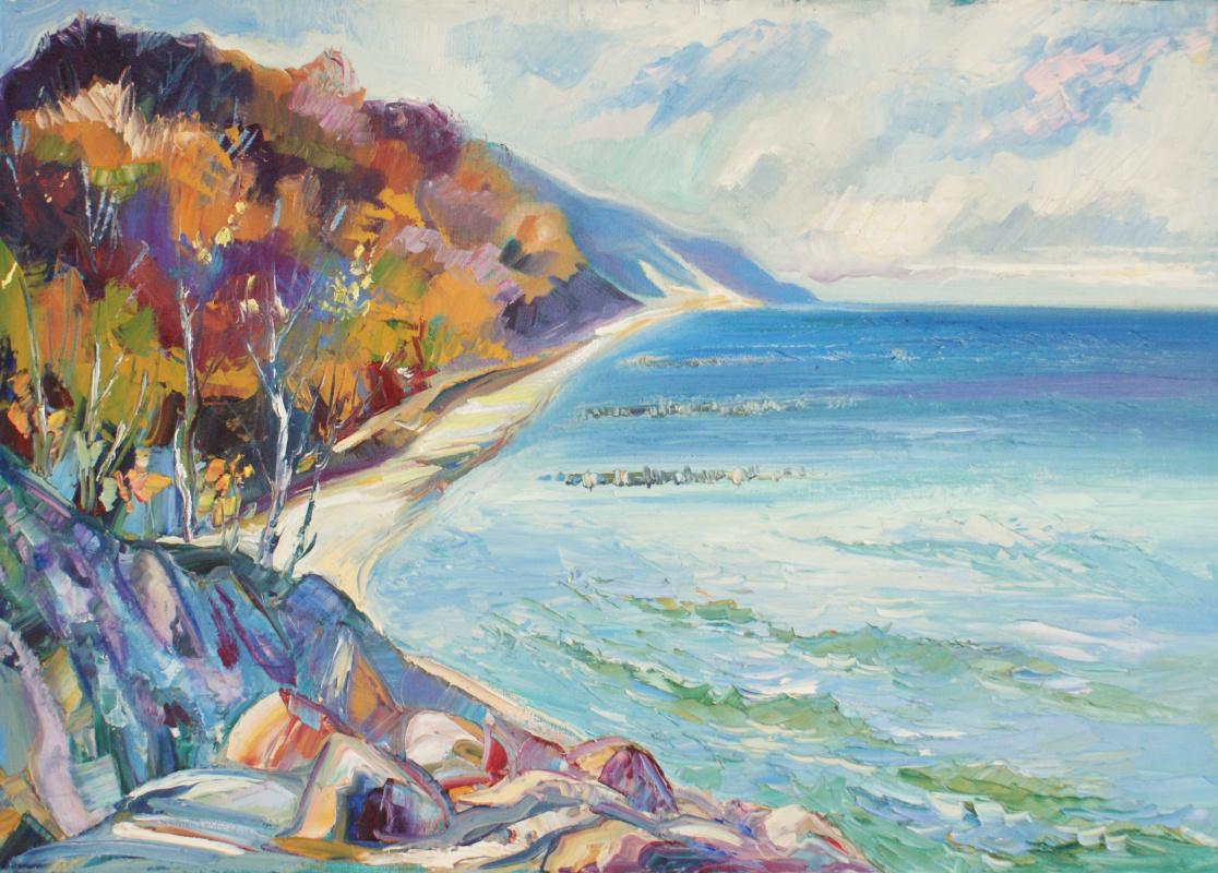 "Boris Viktorovich Zhigalov. ""Shore in Otradnoe"""