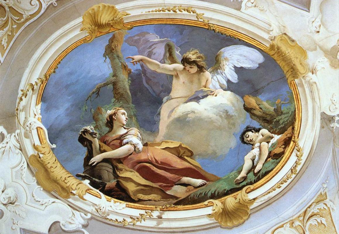 Giovanni Battista Tiepolo. Hagar in the wilderness