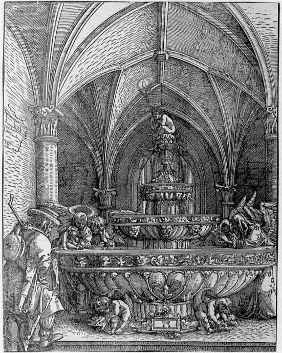 Альбрехт Альтдорфер. Святое семейство у фонтана