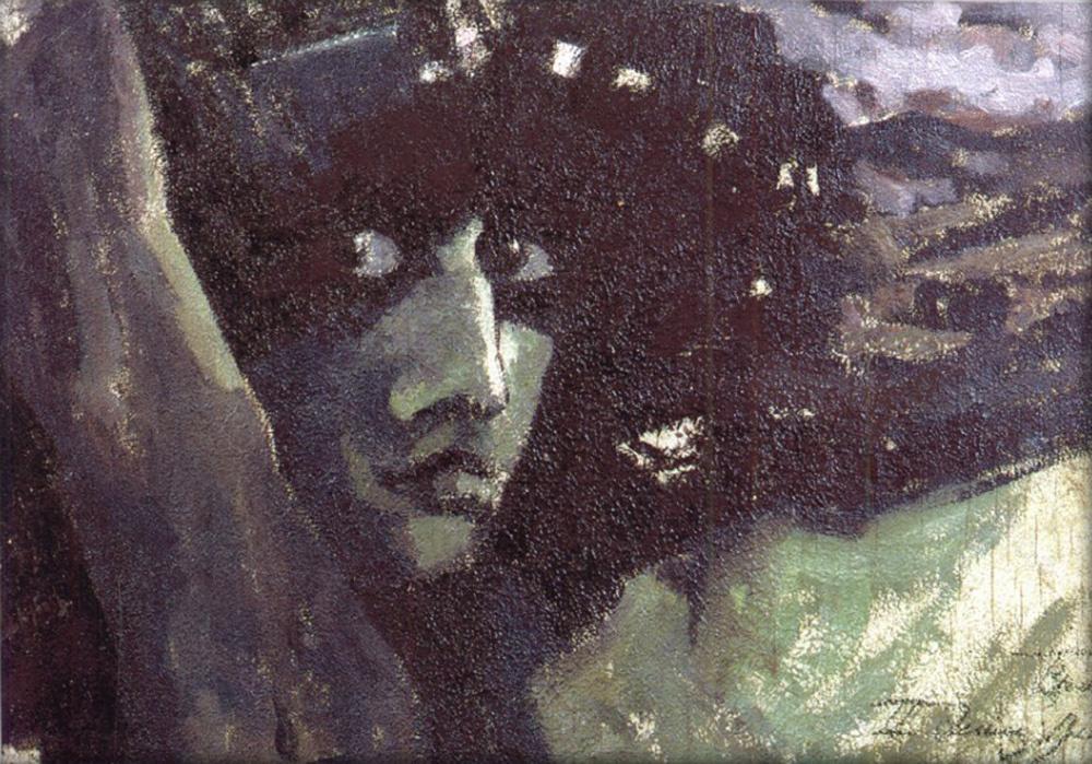 Михаил Александрович Врубель. Голова Демона на фоне гор