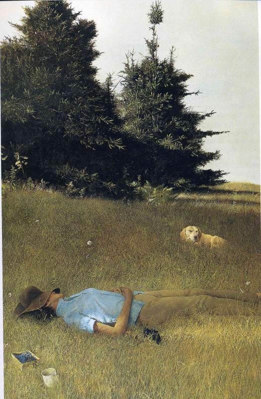 Andrew Wyeth. Distant thunder