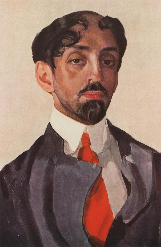 Constantin Somov. Portrait Of Mikhail Alekseevich Kuzmin