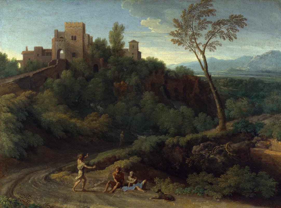 Дугхет Гаспар. Мнимый пейзаж со зданиями в Тиволи