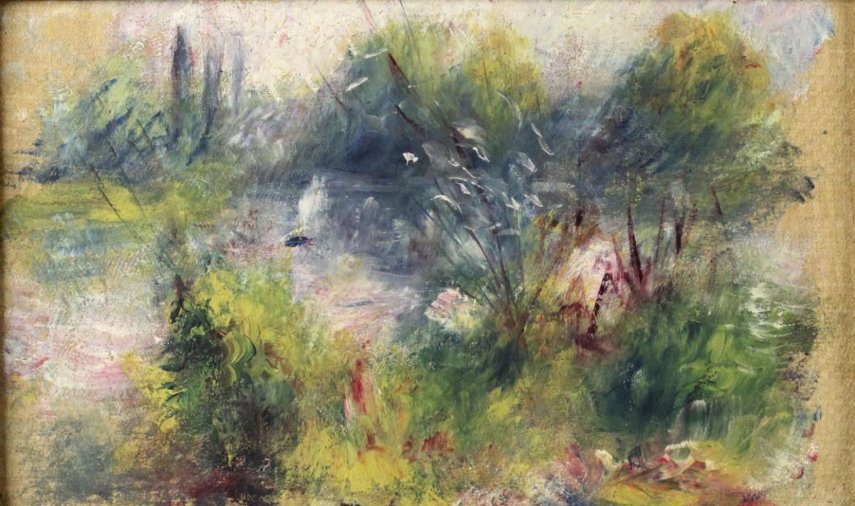 Пьер Огюст Ренуар. Пейзаж на берегу Сены