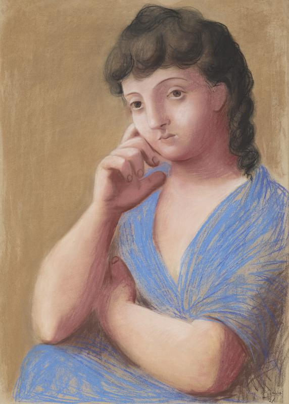 Пабло Пикассо. Облокотившаяся женщина