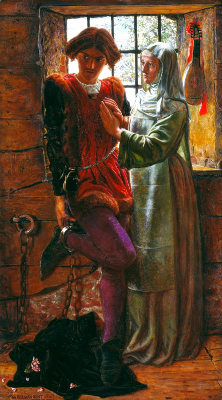 William Holman Hunt. Claudio and Isabella