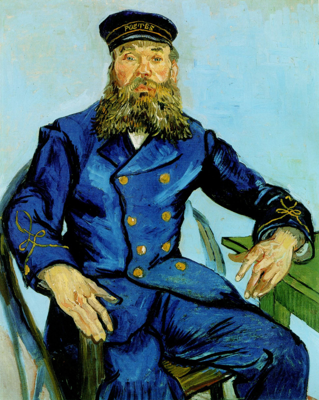 Vincent van Gogh. Portrait of the postman Joseph Roulin