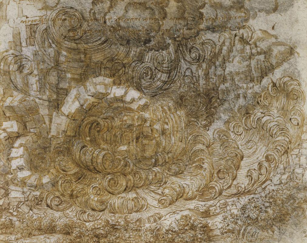 Leonardo da Vinci. The flood