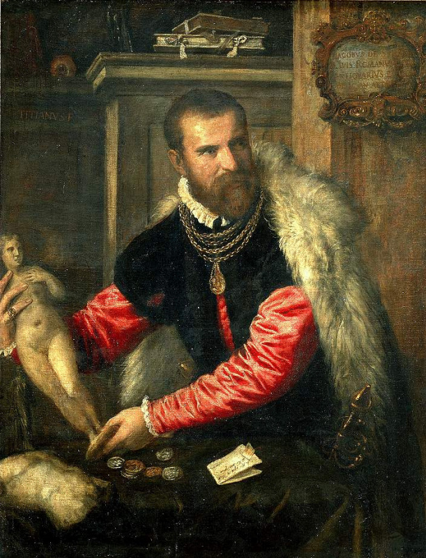 Titian Vecelli. Portrait Of Jacobo Strada