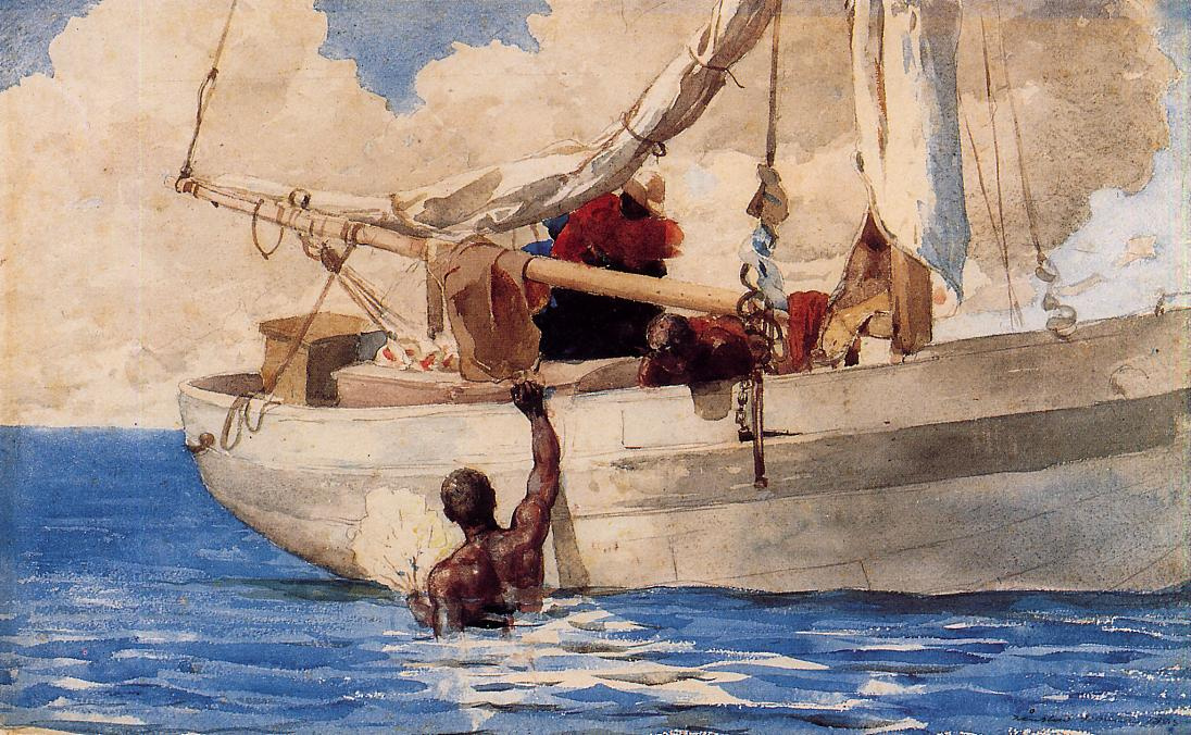 Winslow Homer. Divers for the coral