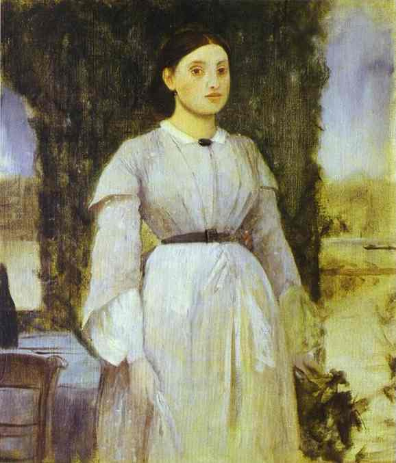Эдгар Дега. Молодая женщина стоит у стола