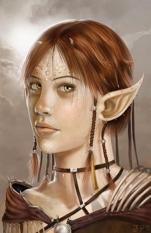 Джелли Охр. Девушка с большими ушами
