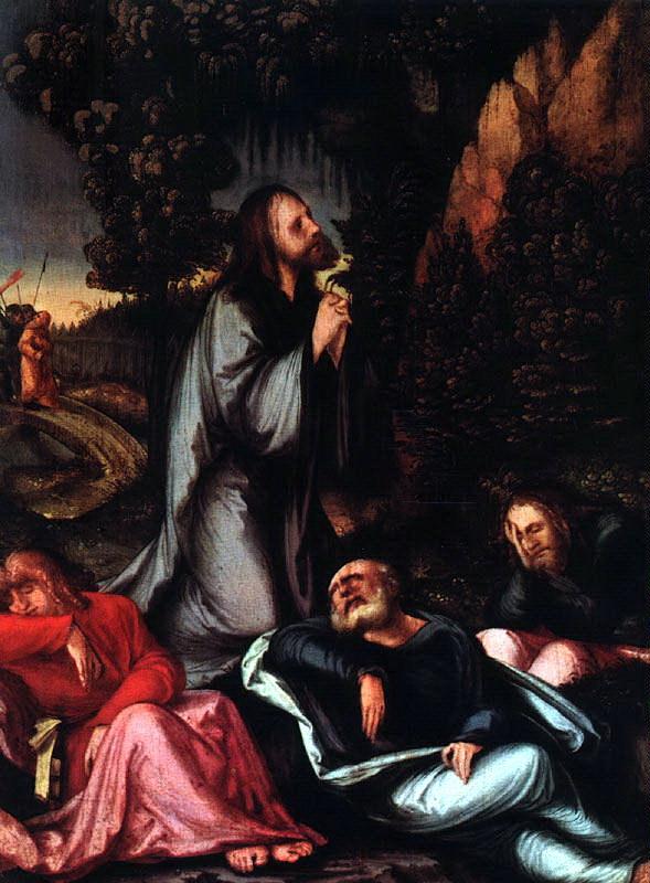 Ханс Леонард Счаеуфелеин. Молитва в саду