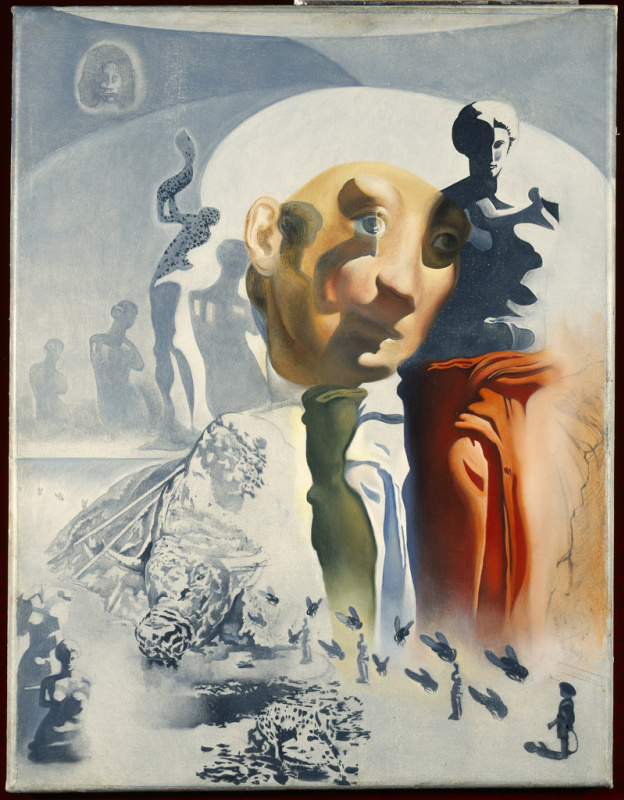 """Salvador Dali. The oil sketch for the painting """"the Hallucinogenic toreador"""""""