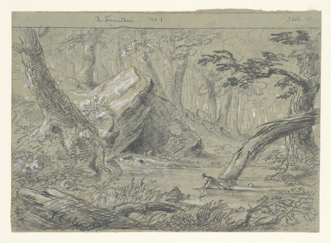Thomas Cole. Source No. 1: A Wounded Indian Thirsting For Death