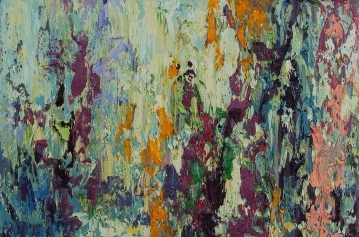 """Tanya Vasilenko. """"Petrykivka (small)"""". Oil. Canvas. Petrykivka (small). Oil on canvas."""