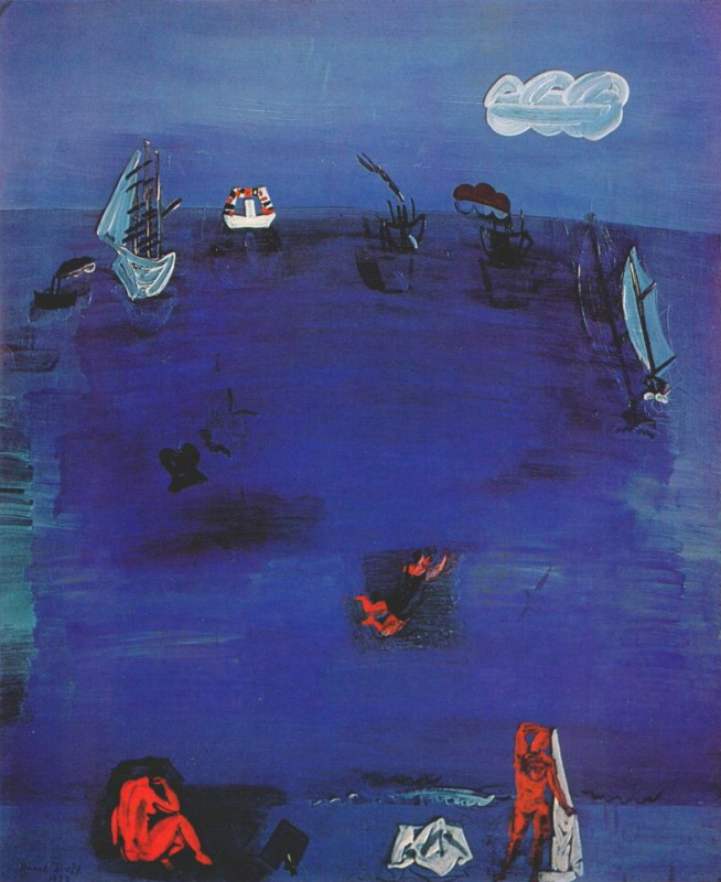 Raoul Dufy. The Mediterranean sea