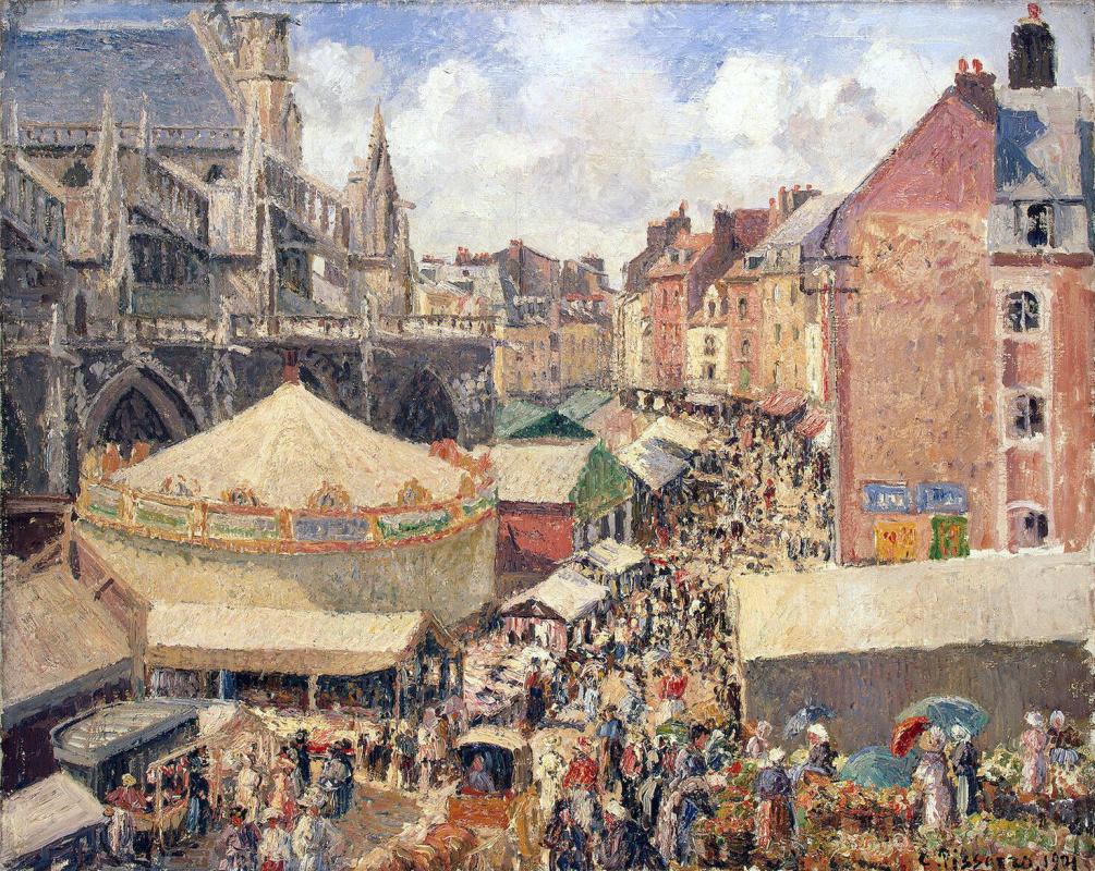 Camille Pissarro. The fair in Dieppe