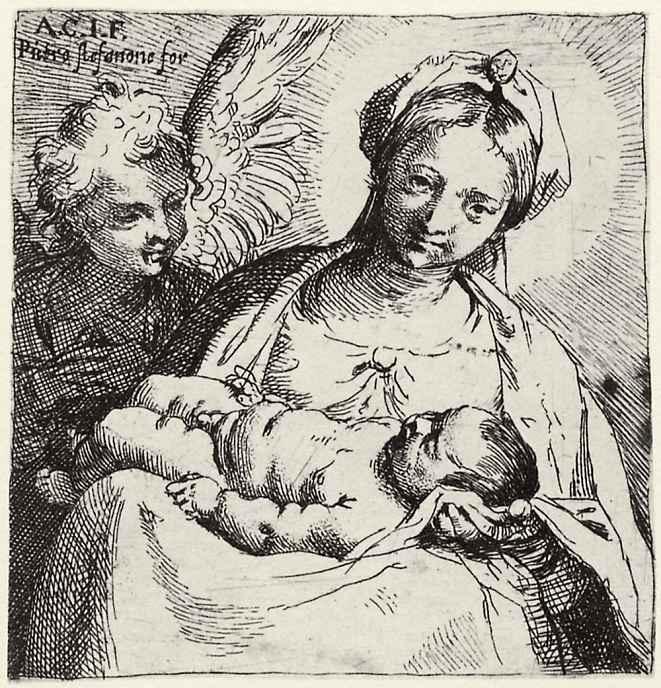 Аннибале Карраччи. Мадонна с ангелом