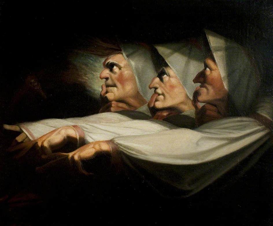 """Иоганн Генрих Фюссли. Три ведьмы (""""Макбет"""", акт I, сцена 3)"""