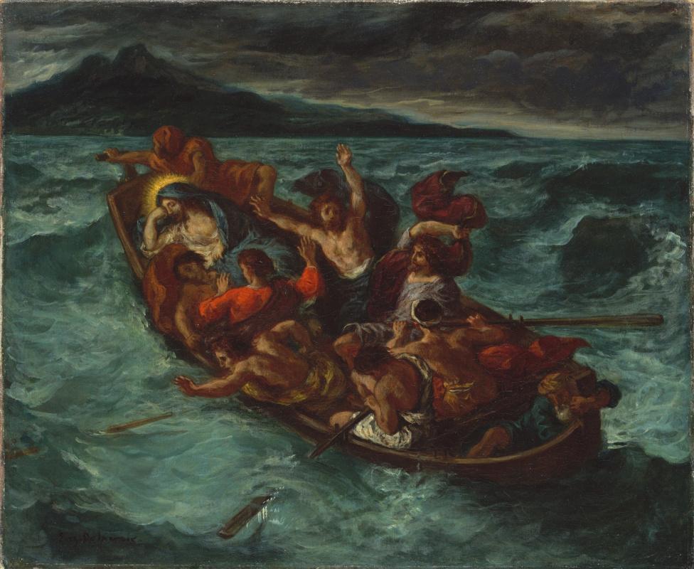 Эжен Делакруа. Христос на Галилейском море