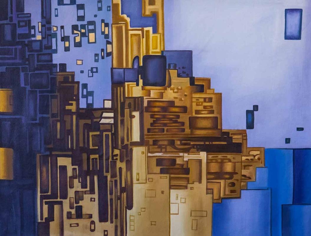 Daniel Wenger. Blue city. Constructivism