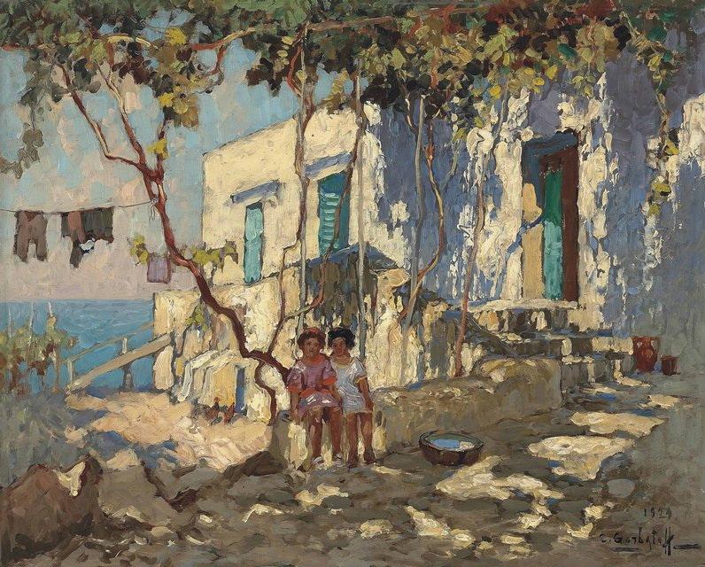 Konstantin Ivanovich Gorbatov. Stay on Capri