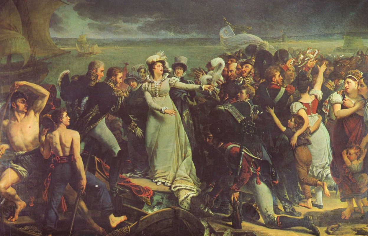 Антуан-Жан Гро. Герцогиня Ангулемская отплывает из Пойяка