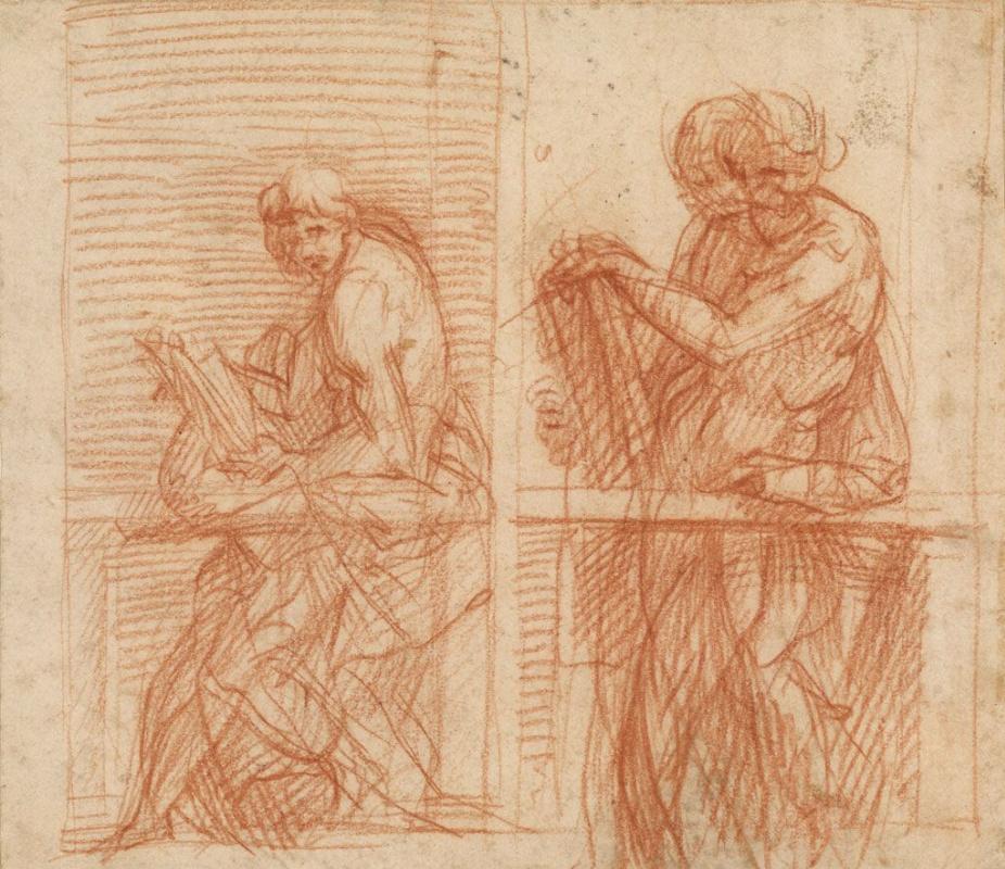Андреа дель Сарто. Эскиз фигур у балюстрады