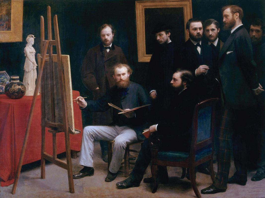 Henri Fantin-Latour. An Atelier in the Batignolles