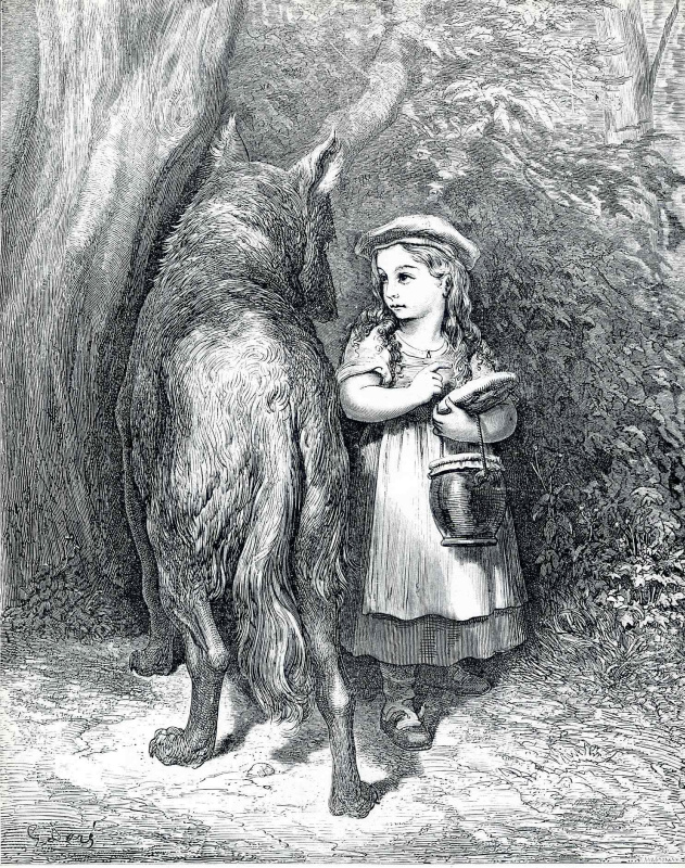 Поль Гюстав Доре. Серый волк и красная шапочка
