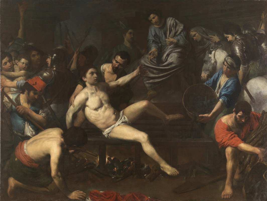 Валантен де Булонь. Мученичество святого Лаврентия