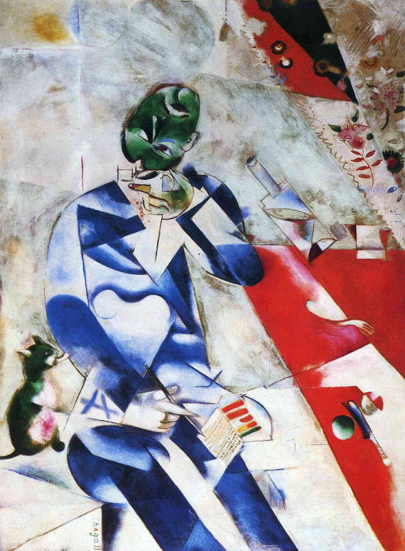 Marc Chagall. The poet, or half past four