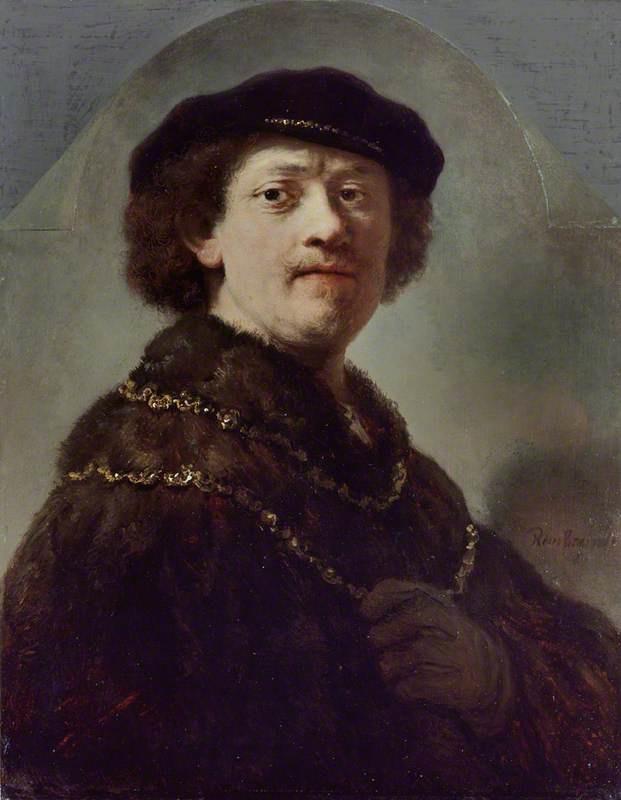 Рембрандт Харменс ван Рейн. Автопортрет в чёрном берете