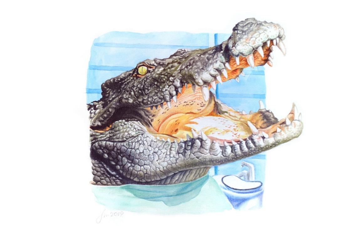 Alexey Fomin. Humanimals. Crocodile
